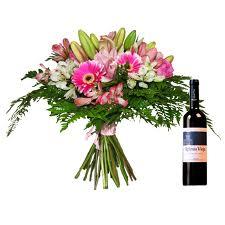 flores y vino