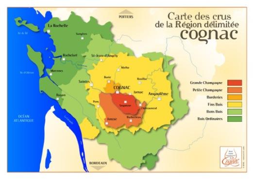 mapa coñac